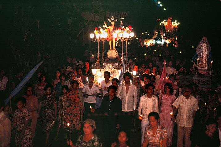 PHILIPPINES. Religion in the Philippines. Annual religious procession. 1981.