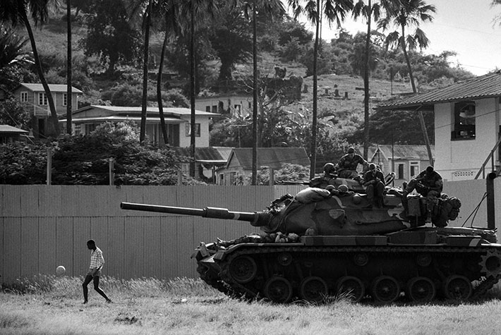 GRENADA. Grenadians for generations had welcomed the only foreigners they encountered - tourists - so U.S. forces had the rare experience of being surrounded by polite and friendly locals. For many Americans, the Grenada invasion was seen as a morale booster after the defeat in Vietnam. 1983