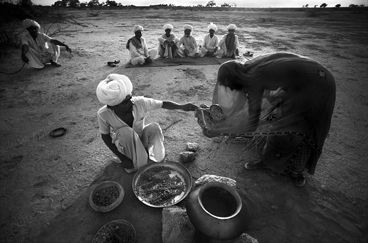 INDIA. When drought gripped western India in 1987, in desperation many turned to holy men to perform ceremonies to summon the god of rain. This meant they were not protesting about the cause - deforestation. 1987
