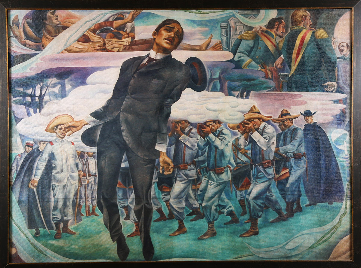 Jos rizal philippine folklife museum foundation san for Bonifacio mural painting
