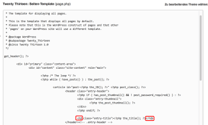 page.php - h1 in h2 ändern