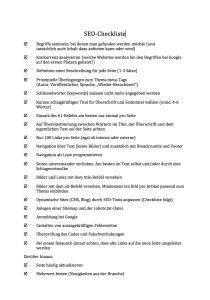 SEO-Checkliste als Word- und pdf-Datei