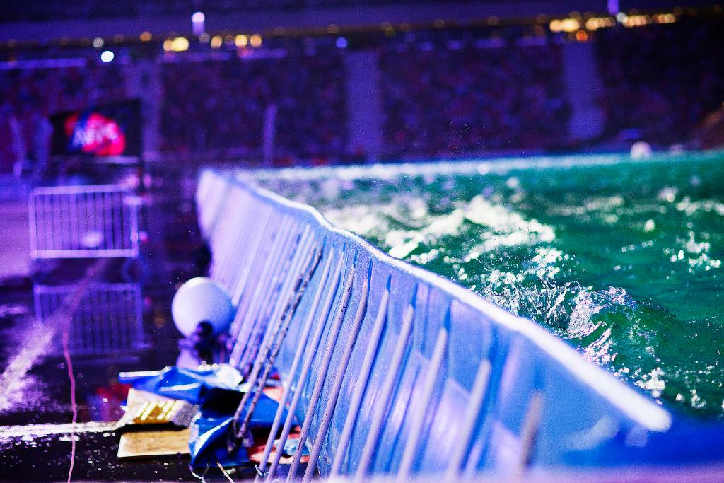 Stadion Narodowy, Warszawa - Phil Soltysiak CAN 9 Windsurfing at PWA Indoor Stadion Narodowy, Warsaw, Poland. Photo by John Carter.