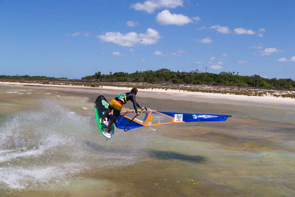 Lagoon Shaka by Phil Soltysiak CAN 9 Windsurfing in Jericoacoara, Brazil. Photo by Tricktionary/Michael Rossmeier.
