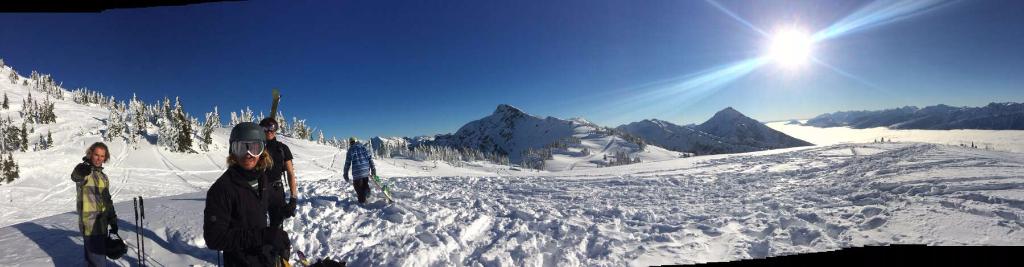 Skiing in Revelstoke Mountain Resort, Canada.