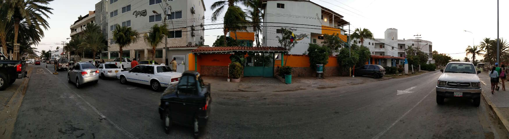 The main street at Playa El Yaque, Isla Margarita