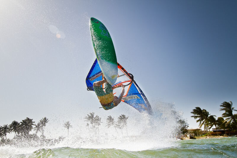 Phil Soltysiak CAN 9 Windsurfing Manglillo, near El Yaque Beach, Isla Margarita, Venezuela. Photo by Tom Brendt.