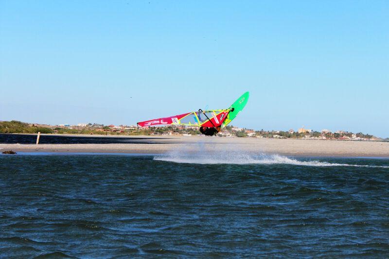 Phil Soltysiak CAN 9 Windsurfing at La Punta, El Yaque Beach Isla Margarita, Venezuela. Photo by Lisa Pina.