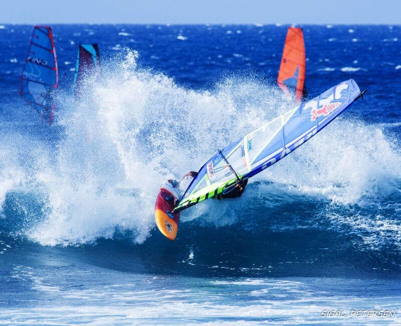 Top turn at Hookipa Beach Park Maui