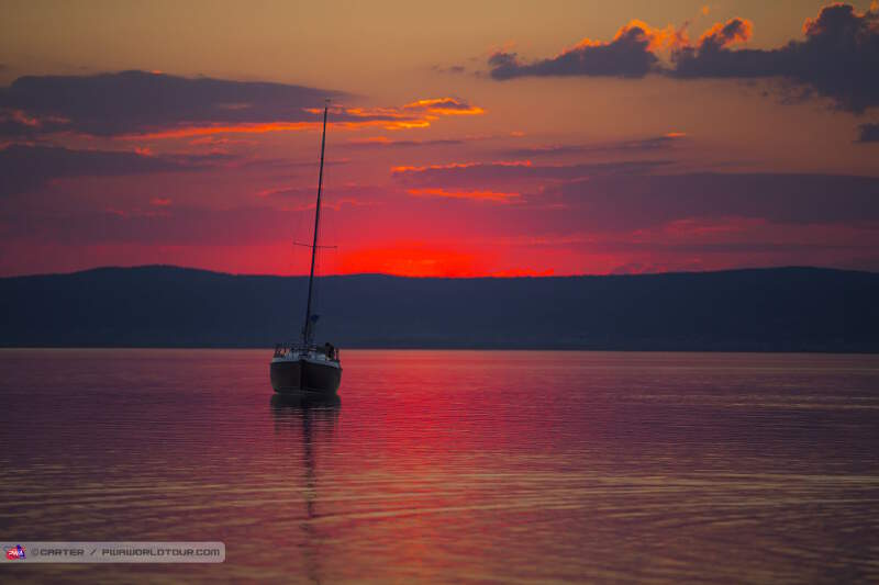 Sunset over Neusiedler See