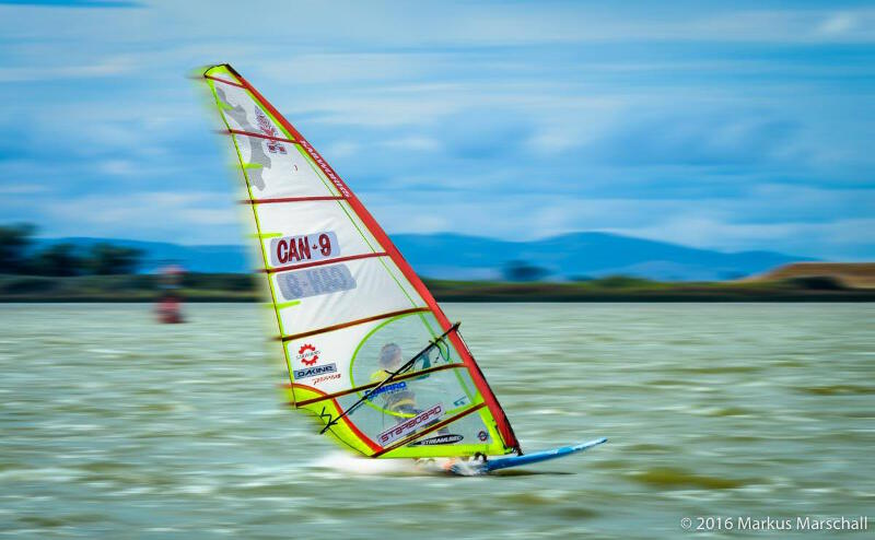 Phil Soltysiak slalom sailing Sherman Island - Photo by Markus Marshall