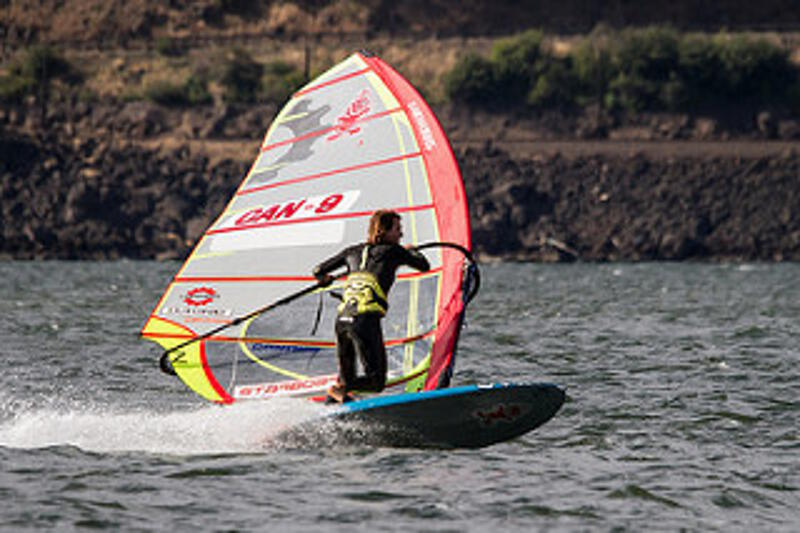 Slalom jibe by Phil Soltysiak - Photo by Ted Gillespie