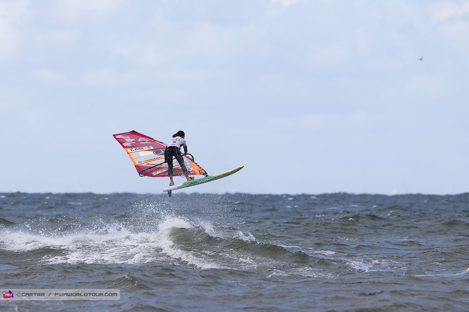 Phil Soltysiak Shaka on the North Sea mid-heat.