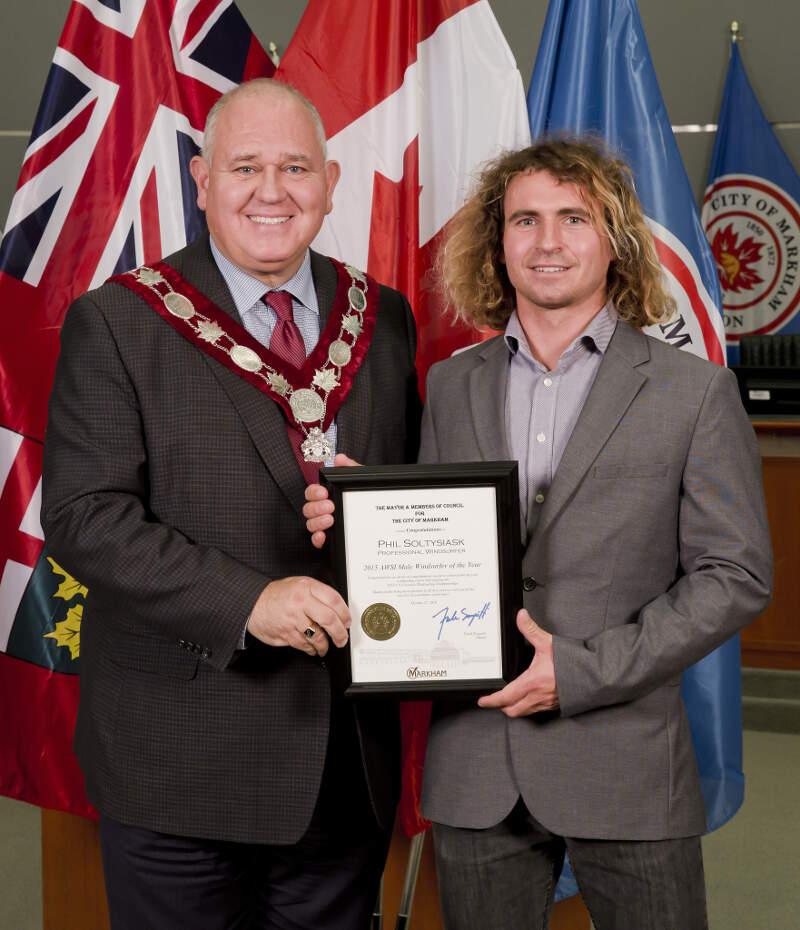 Phil Soltysiak and Markham's mayor Frank Scarpitti