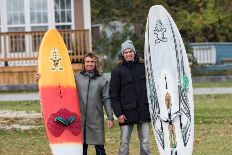 My brother Kuba and me stoked after a great day at Sherkston - Photo by NiagaraMike2000