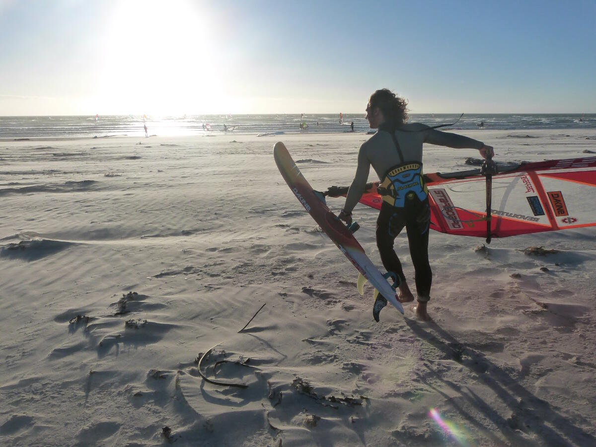 Heading to the water at Melkbos on a busy day - photo by Ryan Allderman