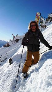 Climbing Mount Mackenzie.