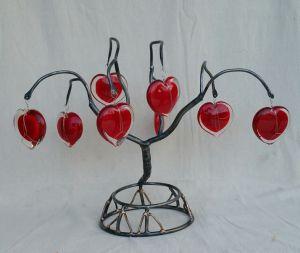 Sculpture-LOVE TREE-2016-Phill Evans Steel-Bronze-Glass H-17 W-23 D-12in