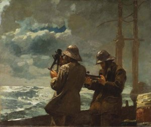 Winslow Homer, Eight Bells, 1886, oil on canvas, gift of anonymous donor, 1930.379 (courtesy of Addison Gallery of American Art)