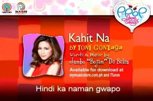 Kahit Na Toni Gonzaga Himig Handog Lyrics