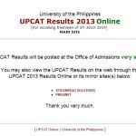 UPCAT 2013 Results Mirror Site Now Available