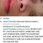 Sunshine Cruz New Boyfriend Revealed by Cesar on Instagram (Photo)