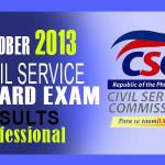 Civil Service Exam Results Professional List of Passers (Oct. 2013)