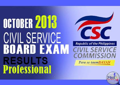 Civil Service Results Prof