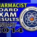 Pharmacist Board Exam Results List of Passers (January 2014)
