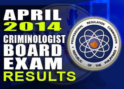 April 2014 Criminologist board exam