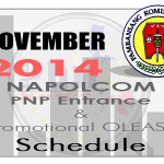 NAPOLCOM OLEASS for November 2014 PNP Entrance & Promotional Exam Released