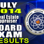 Real Estate Appraisers Board Exam Results List of Passers (July 2014)