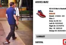 duterte rubber shoes