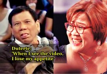 Duterte Responds to De Lima