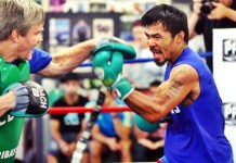 Pacquaio Continues To Train