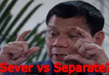 Duterte sever vs separate