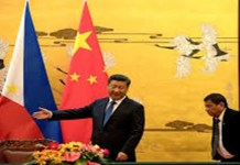 Duterte and Xi at Beijing