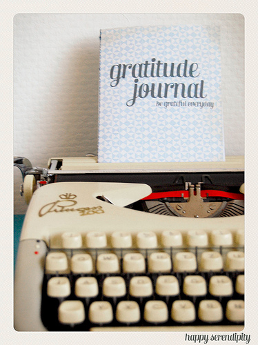 A gratitude journal is a great way to build your strength. Every time you feel gratitude, write it down. And any time you're feeling down, read it.