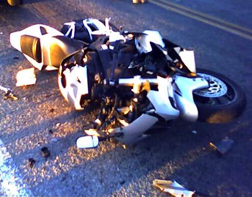 A friend of mine was killed in a bike wreck (this pic is of an injury accident). I became a Motorcycle Safety Instructor as a way of maintaining hope.