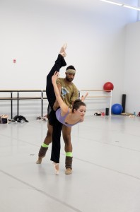 Company Member Lillian Di Piazza and Principal Dancer Jermel Johnson rehearsing Jewels, choreography  by George Balanchine © The George Balanchine Trust   Photo: Alexander Iziliaev