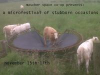 A MICROFESTIVAL OF STUBBORN OCCASIONS (Mascher Space Co-op): The moment doesn't exist