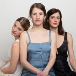From left:  Mary Tuomanen (as Irina) Sarah Sanford (as Olga),and Katharine Powell (as Masha) as the 'Three Sisters' in the Arden Theatre Company production of Anton Chekhov's play. (Photo courtesy of Mark Garvin)