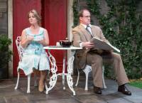 Jennifer Childs and Tony Lawton star as Celia and Toby Teasdale in 1812 Productions' INTIMATE EXCHANGES (Photo credit: Mark Garvin)