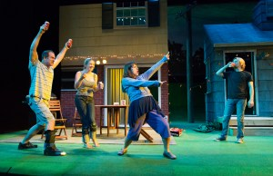 Steven Rishard, K.O. DelMarcelle, Genevieve Perrier, and Matteo J. Scammell in Philadelphia Theatre Company's production of DETROIT. Photo credit: Mark Garvin.