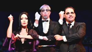 Eisenhower and Coon as Addams Parents,
