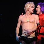 Erik Altemus and Kevin Cahoon in THE ROCKY HORROR PICTURE SHOW at Bucks County Playhouse.