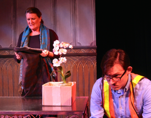 Marcia Saunders and Harry Watermeier star in A RESPECTABLE WIDOW TAKES TO VULGARITY (Photo credit: Emma Gibson)