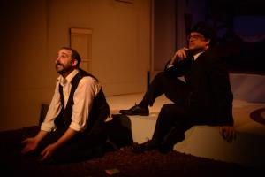 Russ Widdall (right) provides great support in EgoPo's DEATH OF A SALESMAN. Photo by David Cimetta.