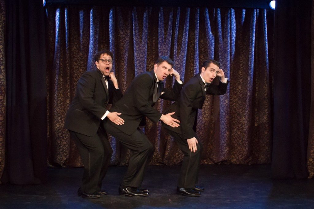 Photo of the men of Mauckingbird Theatre Company's HOT N' COLE Photo by Luis Fernando Rodriguez.