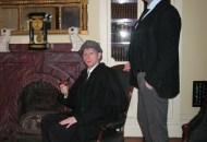 Holmes (Josh Hitchens) and Watson (Peter Zielinski) at home in the Ebeneezer Maxwell Mansion.